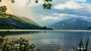 Doppelregenbogen nach Sprühregen (Blick auf Ostufer)