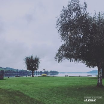 Ein leeres Strandbad Oitner